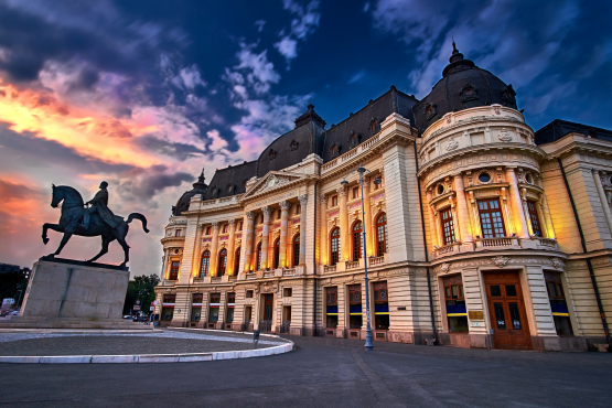Bucharest, National Library, Romania